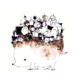 Fell on a hedgehog by koyamori