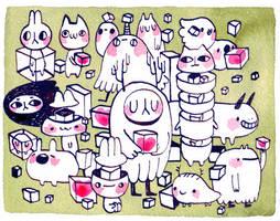 Hako animals by koyamori