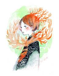 coral collar by koyamori