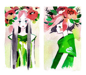 flower crowns by koyamori