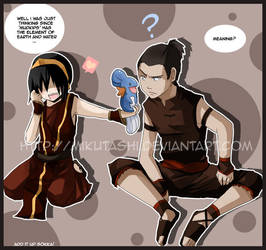 Toph and Sokka: MUDKIP by Mikutashi