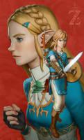 Zelda: Breath of the Wild by porksiomai