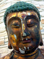 wood buddha by laurelrusswurm