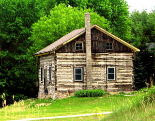Log House (colour version) by laurelrusswurm