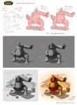 World of Warcraft: Ogre Monk - Work process by Shockowaffel