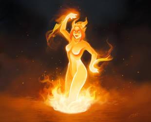 Hearthstone: Dancing flame by Shockowaffel