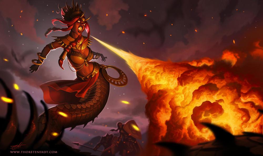 Dragon Princess Cassiopeia splash art by Shockowaffel