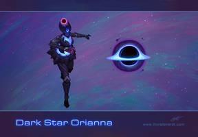 LoL skin concept: Dark Star Orianna by Shockowaffel