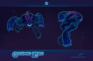 LoL skin concept: Cosmic Zac by Shockowaffel
