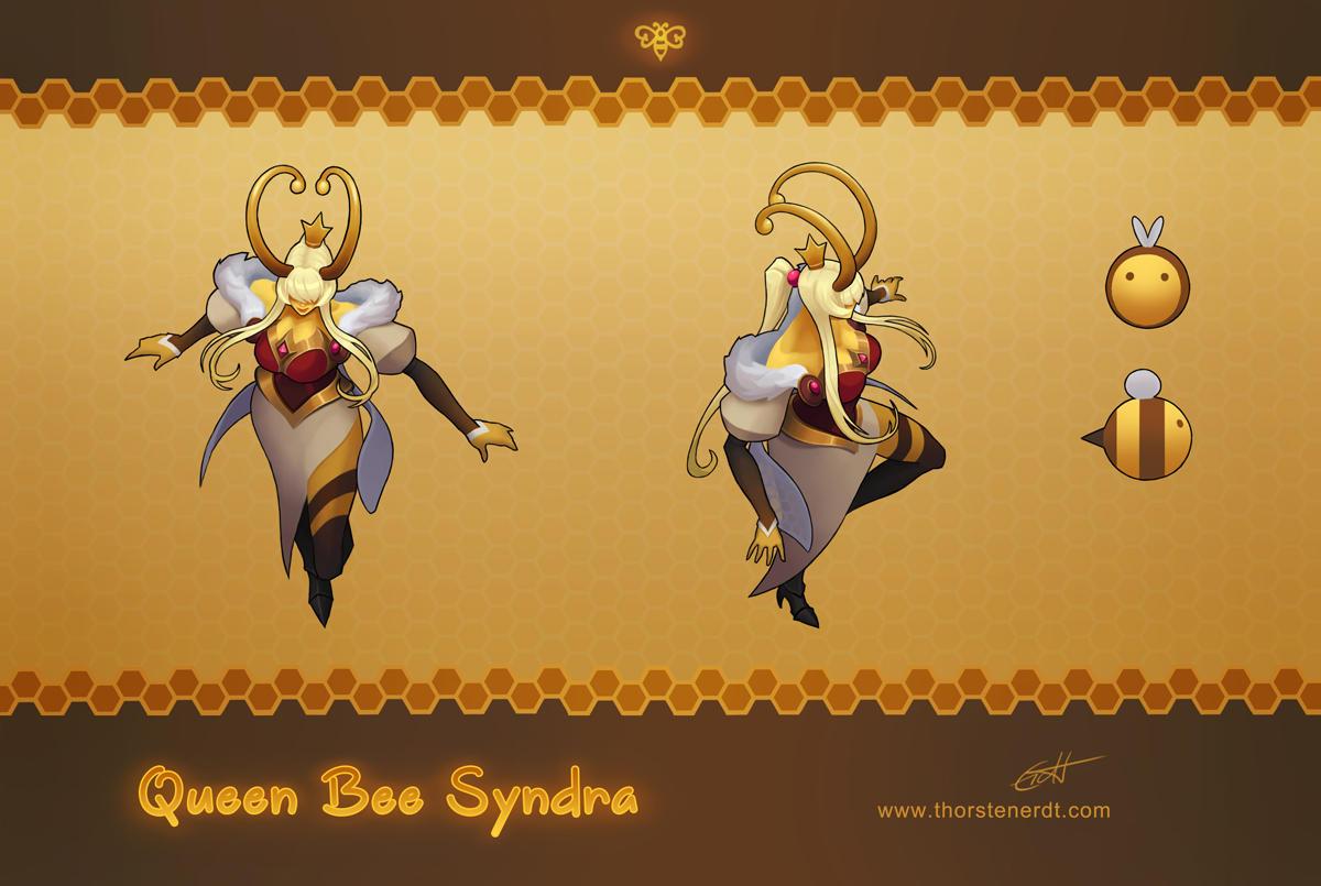 LoL skin concept: Queen Bee Syndra by Shockowaffel