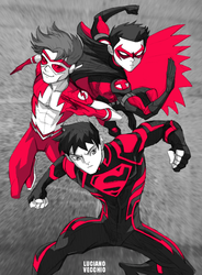 Teen Titans - Original Three by LucianoVecchio