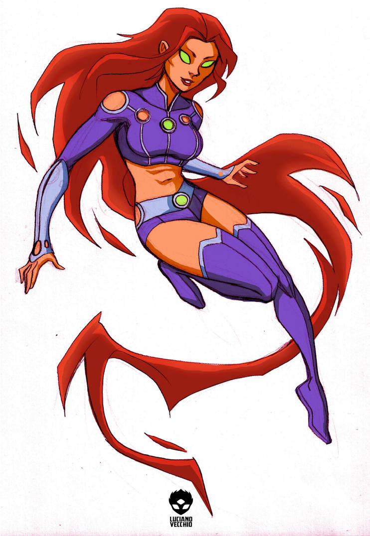 Starfires New Look By LucianoVecchio