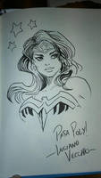 Wonder Woman - convention sketch by LucianoVecchio