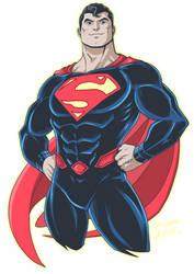 Superman Rebirth by LucianoVecchio