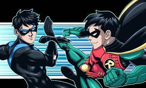 Titans: Nightwing vs Robin by LucianoVecchio