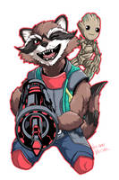 All New Rocket and Groot by LucianoVecchio