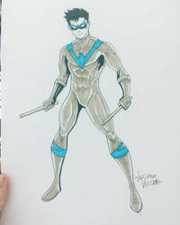 Batman Day Nightwing Sketch by LucianoVecchio