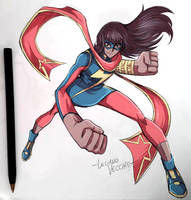 MS MARVEL Sketch by LucianoVecchio