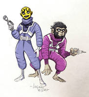 Young Mokkari and Symian of Apokolips sketch by LucianoVecchio