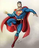 Superman back to classic by LucianoVecchio