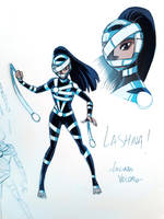 Young Lashina of the Female Furies sketch by LucianoVecchio