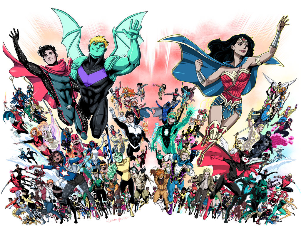 LGBTIQ heroes of Marvel and DC Comics by LucianoVecchio