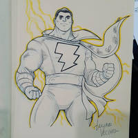 SHAZAM commission sketch at Argentina Comic Con by LucianoVecchio