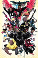 Black Superheroes of the Marvel Universe by LucianoVecchio