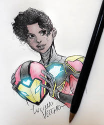 Ironheart sketch by LucianoVecchio