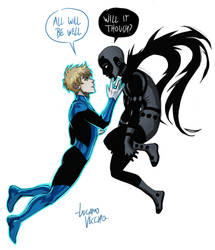 Blue Lantern Terry Berg X Young Obsidian by LucianoVecchio