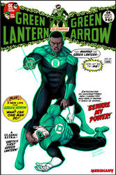 Green Lantern John Stewart firt appearance revisit by LucianoVecchio