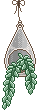 Hanging Terrarium Pixel by DragonFawns