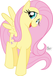 Tony Fleec's Fluttershy Vectored! by mavdpie