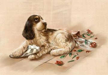 Puppy from flat number 13 by layanna