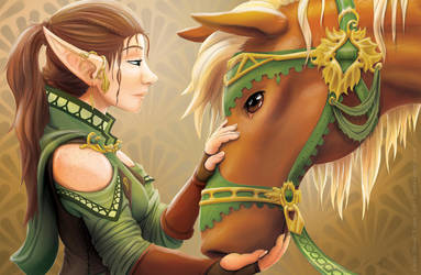 A Girl and her Horse by Shalie