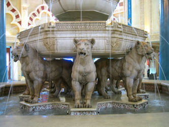stock lion fountain by elisafox-stock