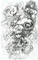 Battle Chasers Tribute WIP by romidion