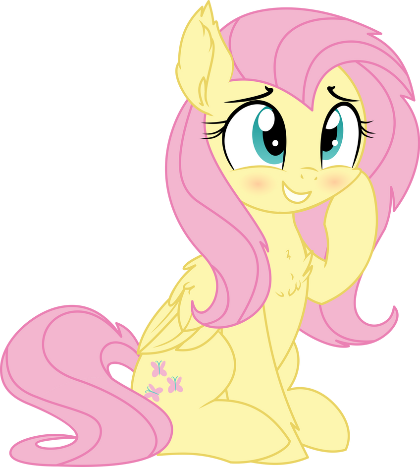 fluttershy_vector___25_a_little_smile_by