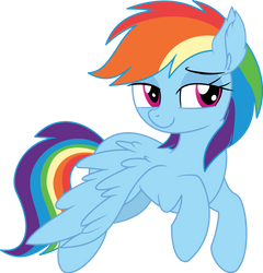 Rainbow Dash Vector 23 - Hello There by CyanLightning