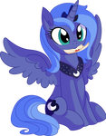 Princess Luna Vector 02 - Letter from a Princess by CyanLightning