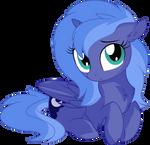Princess Luna Vector 03 - Looking at You by CyanLightning