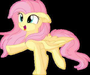 Fluttershy Vector 28 - Happy by CyanLightning