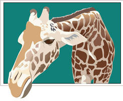 vector giraffe by A---sharman
