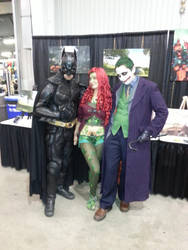 Batman, Joker and Poison Ivy at SCEE 2014 by xayoz77