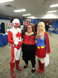 Captain Canuck, Melissa and Supergirl at SCEE 2014 by xayoz77
