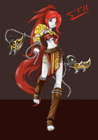 Kratos the Goddess of war by Zyncronization