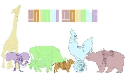 animal mounts - concept by dopaMEANmusic
