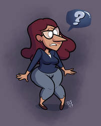 HEY IT'S THAT GRAVITY FALLS WOMAN AGAIN by dustindemon