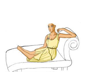 greek woman by vivvz