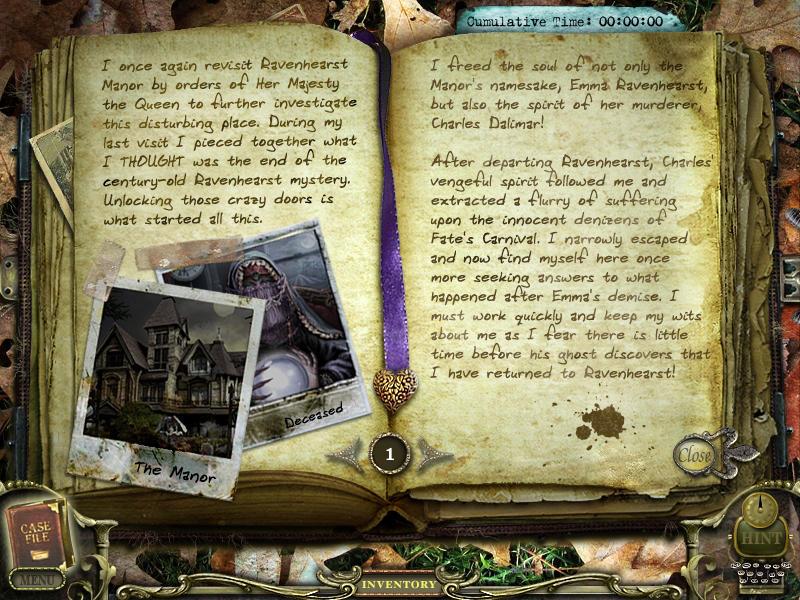 Return to Ravenhearst Journal 01 by InkHeart17